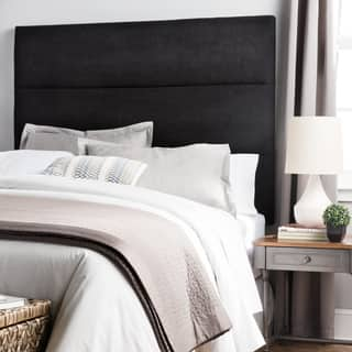 Humble + Haute Hereford Black Suede Upholstered Headboard|https://ak1.ostkcdn.com/images/products/14368538/P20942861.jpg?impolicy=medium