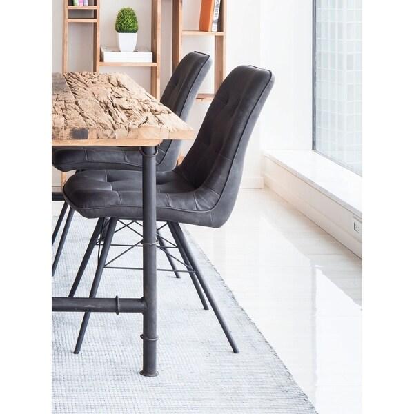 Aurelle Home Modern Grey Dining Chair (Set of 2)