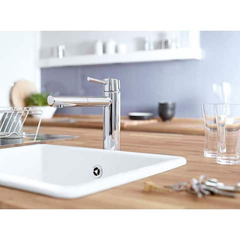 Grohe Concetto Filtering Pullout Spray Single Hole Kitchen Faucet 31453001 in Chrome