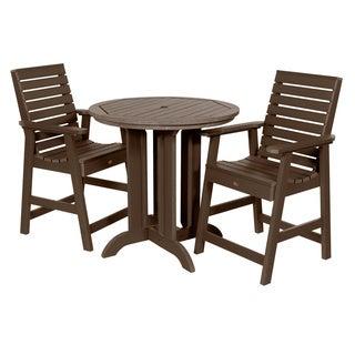 Weatherly 3-piece Round Counter Dining Set