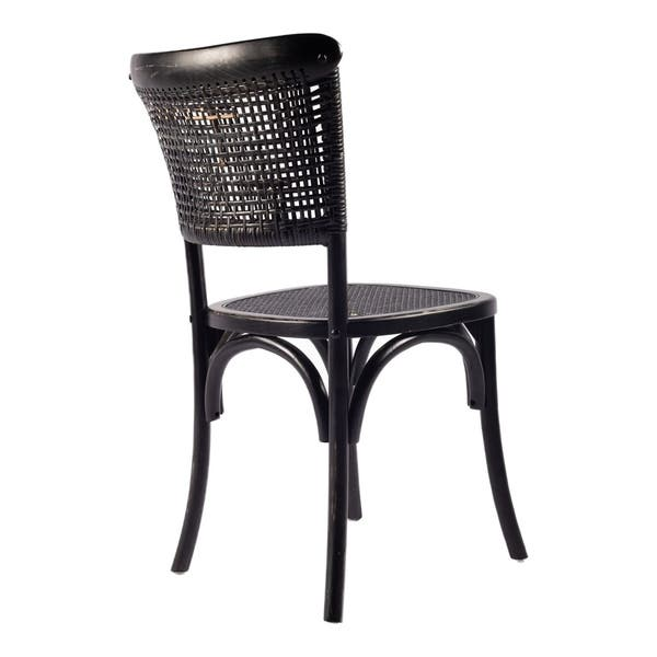 Aurelle Home Black Rattan Dining Chairs Set Of 2 N A On Sale Overstock 14368568