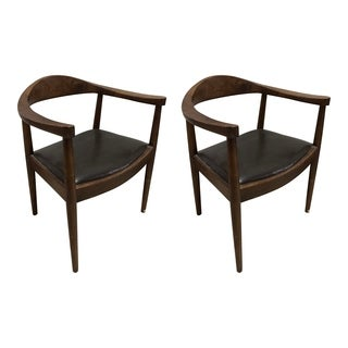 Aurelle Home Cecil Dining Chair Walnut Brown (Set of 2)