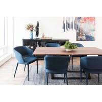 Aurelle Home Walnut Modern Craftsman Rectangular Dining Table