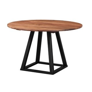 Aurelle Home Rustic Craftsman 48-inch Round Dining Table