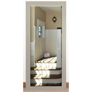 US Made Arctic Ivory Beveled Full Body Mirror - Off White (2 options available)
