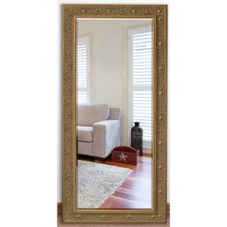 US Made Opulent Gold Beveled Full Body Mirror