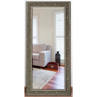 US Made Opulent Silver Beveled Full Body Mirror