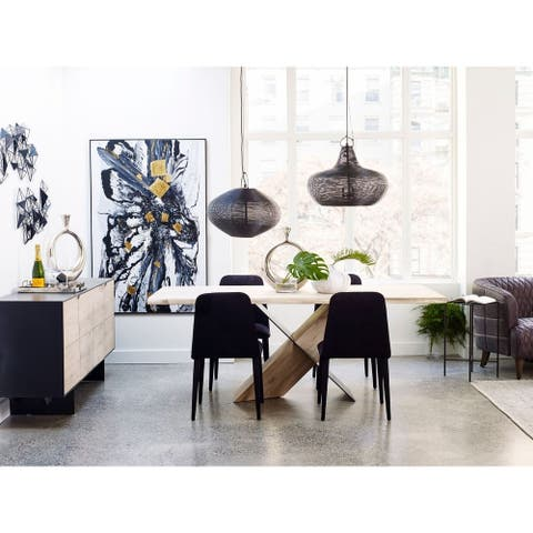 "Aurelle Home Ida Modern Solid Wood Dining Table - Tan - 79"" x 39.5"" x 30"" - 79"" x 39.5"" x 30"""