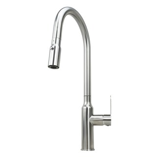 Solid Stainless Steel Lead Free Single Handle Pull Out Nozzle Sprayer Kitchen Faucet