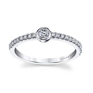 Lihara and Co. 18k White Gold1/4ct TDW Diamond Fashion Ring (G-H, VS1-VS2)