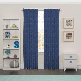 Eclipse Denim Polyester Set Sail Window Curtain Panel