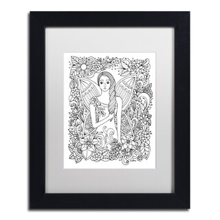 KCDoodleArt 'Fairy 4' Matted Framed Art