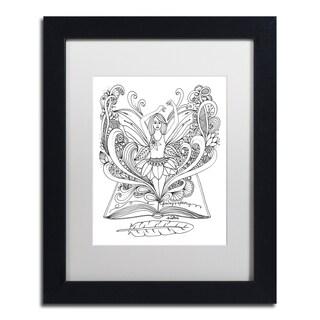 KCDoodleArt 'Fairy 3' Matted Framed Art