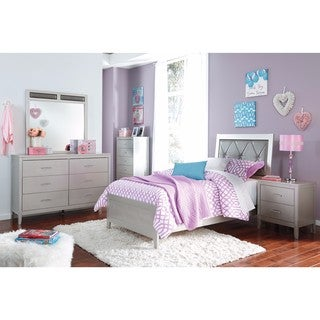 Signature Design by Ashley Olivet Silver Twin Bed