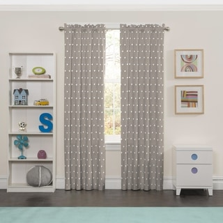 Eclipse Grey Polyester Peanut Pals Window Curtain Panel