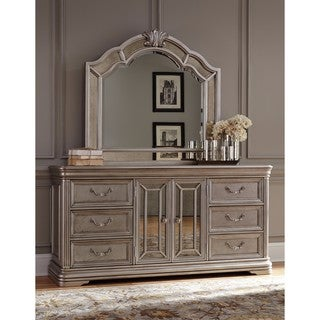 Signature Design by Ashley Birlanny Silver Dresser with Mirror