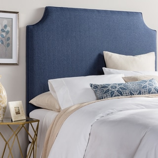 Humble + Haute Raleigh Tall Navy Blue Upholstered Headboard