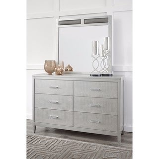 Signature Design by Ashley Olivet Silver Dresser with Mirror