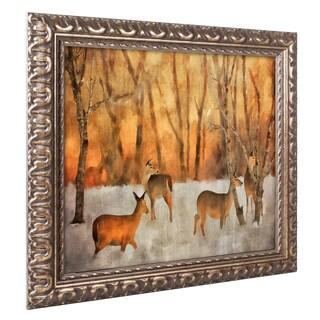 Lois Bryan 'Creatures of a Winter Sunset' Ornate Framed Art