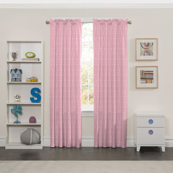 Shop Eclipse Tiny Bella Blackout Window Curtain Panel - Free ...