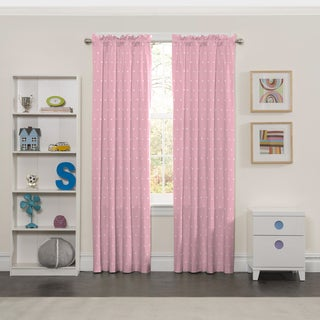 Eclipse Tiny Bella Pink Polyester Blackout Curtain Panel