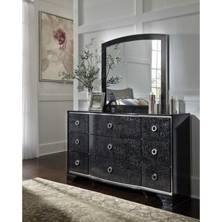 Signature Design by Ashley Amrothi Black Dresser with Mirror