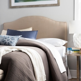 Humble + Haute Bingham King Size Beige Linen Arched Upholstered Headboard