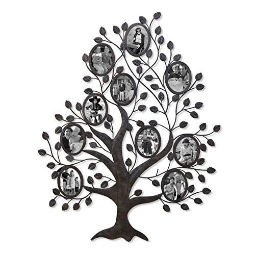 Metal Tree Wall Hanging Prepossessing Adeco Black Metal Family Tree Wall Hanging Collage Photo Frame Design Inspiration