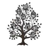 Adeco Black Metal Family Tree Wall Hanging Collage Photo Frame