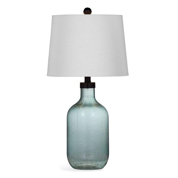 Savanna 25-inch Blue Glass Table Lamp