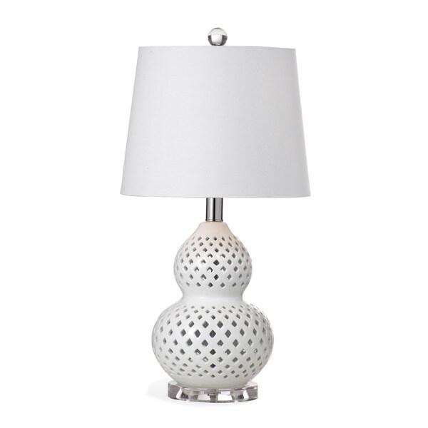 Oberlin 21-inch White Ceramic Table Lamp