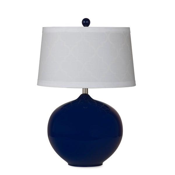 Ashford 25-inch Blue Glass Table Lamp