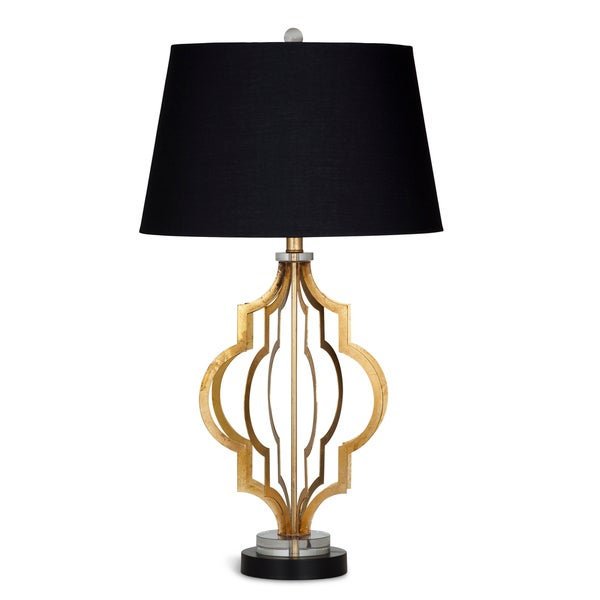 Clara 34-inch Gold Metal Table Lamp