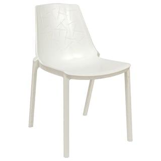 LeisureMod Modern Clover White Dining Chair