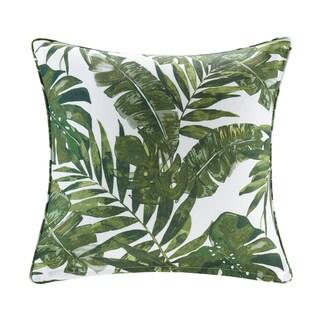 Madison Park Navio Green Printed Palm 3M Scotchgard Outdoor Pillow 2-Color Option
