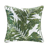Madison Park Navio Green Printed Palm 3M Scotchgard Outdoor Pillow 2-Color Option