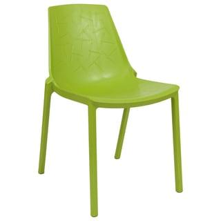LeisureMod Modern Clover Green Dining Chair