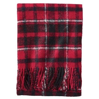 Pendleton Boucle Wool Stratton Plaid Throw