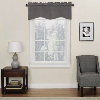 Eclipse Kendall Blackout Wave Window Curtain Valance - 42X18