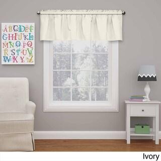 Eclipse Kids Microfiber Blackout Window Valance (Option: 42X18 - Ivory)