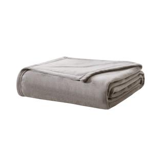True North by Sleep Philosophy Liquid Velvet Fleece Solid Blanket