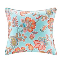 Madison Park Cambria Printed Floral 3M Scotchgard Indoor/Outdoor Square Pillow 3 Color Option