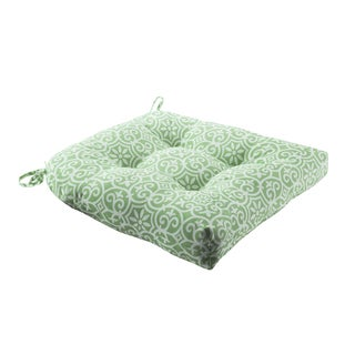 Madison Park Morro Printed Fret 3M Scotchgard Indoor/Outdoor Seat Cushion 4 Color Option