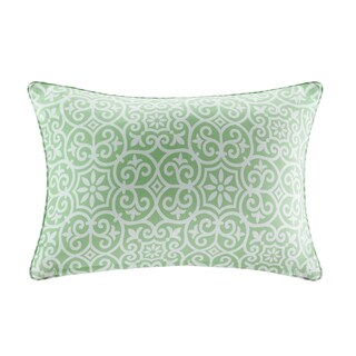 Madison Park Morro Printed Fret 3M Scotchgard Indoor/Outdoor Oblong Pillow 4 Color Option