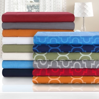 Superior Extra Soft and All Season 100% Brushed Cotton Flannel Trellis Sheet Set
