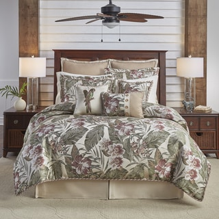 Croscill Anguilla Jacquard Woven Tropical 4 Piece Comforter Set