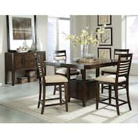 Avion Stained Wood Counter Height Dining Table
