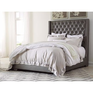 Signature Design by Ashley Coralayne Grey Upholstered Bed