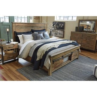 ashley king bedroom set. Signature Design by Ashley Sommerford Brown Storage Bed Bedroom Furniture For Less  Overstock com