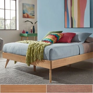 Penelope Tapered Leg Chestnut Finish Platform Bed by MID-CENTURY LIVING
